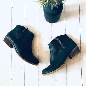 Lucky brand black leather boots size 10 m